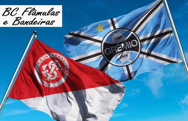 Bandeira OFICIAL do GRÊMIO ou do INTER pra Você Torcer pelo seu Time do  Coração com Preço Especial! A PARTIR DE 205f4b8445934